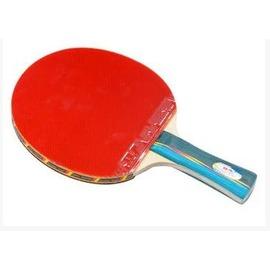 【乒乓球拍-橫直拍-三星級-雙面反膠815-1套/組】成品拍 5層純木底板面材為進口木材(不送球)-56014