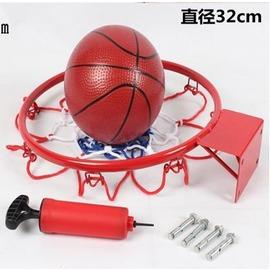 【籃球框-兒童娛樂款-32cm-鋼材+噴塑-1套/組】標準籃球框 兒童籃框 壁掛式籃框 (送打氣筒+3色籃網+4個膨脹螺絲)-56007