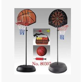 【兒童籃球架-板38*48-框28-底48cm-高153-172cm-1套/組】移動式兩用籃球架 可升降 帶飛鏢-56007