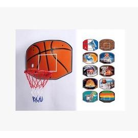 【壁掛式籃板-大號-密度板+鐵件-板60*45.5*1.4cm-框直徑37-1套/組】籃板 移動籃板 掛式籃板籃框 兒童籃板 籃框-56007