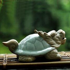 【茶寵-龜龍/哈哈佛-哥窯-1個/組】哥窯開片陶瓷茶寵彌勒佛龍龜擺件功夫茶道茶盤配件茶玩,多款可選-7501015