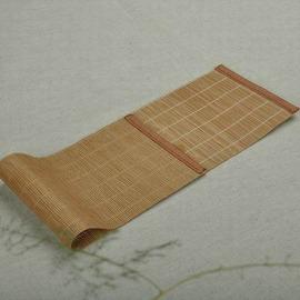 【細竹墊-竹制-寬12*長50cm-2套/組】茶道茶具配件高級竹制茶席 竹簾 餐墊-7501015