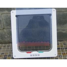 【寵物門-塑膠-大號-21*19cm】貓門 小狗門 4種方式設置,大號-外23.5*25.2*5.5cm 內門21*19cm-79014