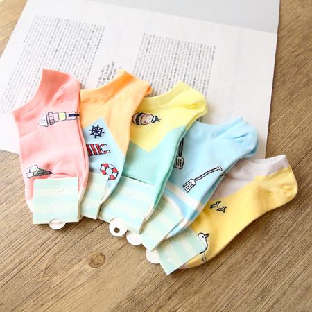 韓版 趣味水手風造型短襪 游泳圈 襪子 造型襪 流行襪【N201500】