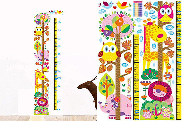 BO雜貨【YV2259】高品質DIY可移動牆貼/身高尺壁貼/兒童壁貼 兒童房設計 長頸鹿身高尺