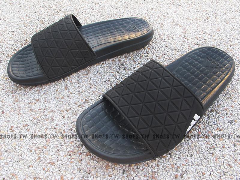 Shoestw【AQ5911】ADIDAS X16 SLIDE 拖鞋 全黑 菱格紋 海灘拖 男生尺寸
