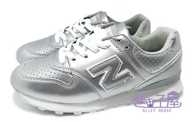【巷子屋】Limitless利米堤司 女款韓風N字運動慢跑鞋 [1367] 銀 超值價$298