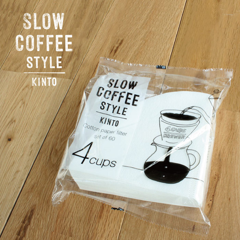 KINTO SLOW COFFEE STYLE 專用錐形濾紙 4 人份60枚