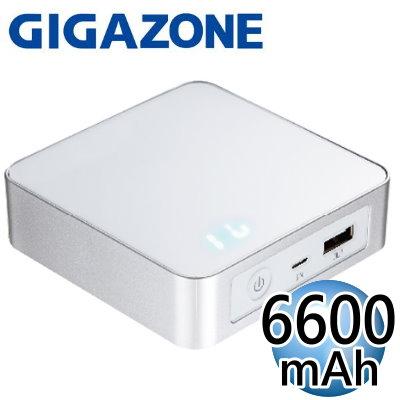 技嘉 GIGAZONE G66B1 6600 mAh 1A 行動電源(LED螢幕顯示型)(白色)