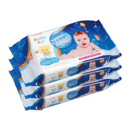 【悅兒樂婦幼用品舘】Combi 康貝海洋深層水嬰兒柔濕巾20抽隨手包(3入)