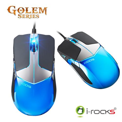 [ 福利品] i-Rocks M20E Golem 多彩炫光RGB 3D雷射遊戲滑鼠_Razer雷蛇比較