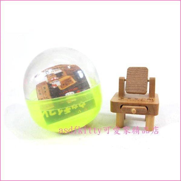 asdfkitty可愛家☆扭蛋系列-KITTY原木迷你桌擺飾-精緻輕巧-可當禮物或收藏品-日本正版