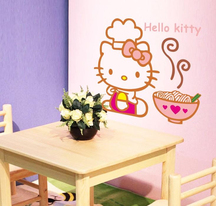 Decor.H 卡通無痕壁貼 不傷牆面 展覽 布置 創意 DIY 裝潢 廚房裝飾 Hello Kitty 凱蒂貓