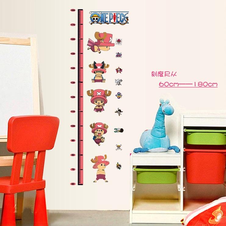 Decor.H 無痕設計壁貼 航海王 海賊王 喬巴 身高量尺 兒童房 裝飾 布置 DIY 重複撕貼 不傷牆面