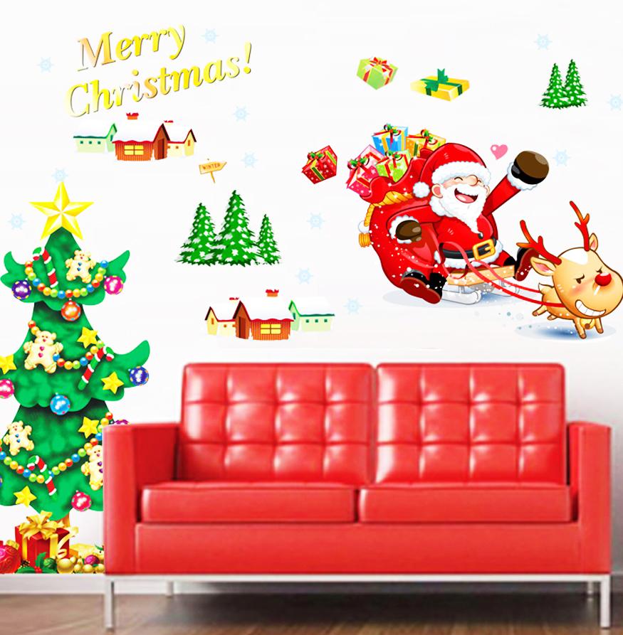 Decor.H 【節慶】 無痕壁貼 聖誕麋鹿 室內設計 創意 DIY 沙發牆 家飾專賣 Design Art Wall Paper Sticker