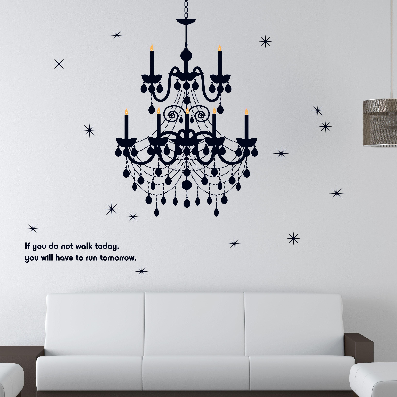 無痕設計壁貼 水晶吊燈 防水不傷牆面 展覽 布置 創意 DIY 裝潢 飾品 家飾