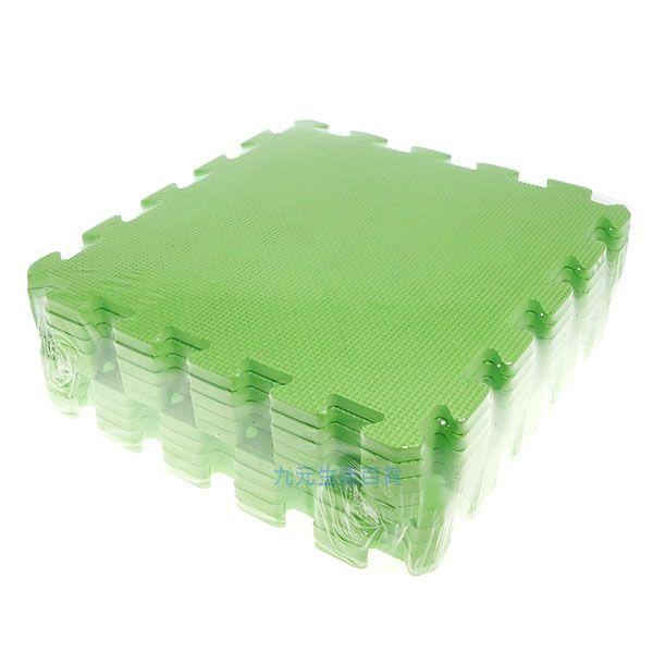 【九元生活百貨】淺綠色彩墊/10入 拼裝地墊 EVA 鋪地 拼板