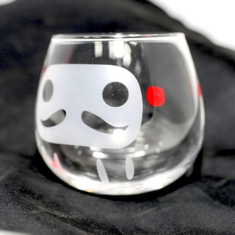 不倒翁 達摩玻璃杯 日本製 福壽吉祥杯 真的不會倒
