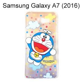 哆啦A夢透明軟殼 [漸層雲朵] Samsung A710Y Galaxy A7 (2016) 小叮噹【正版授權】