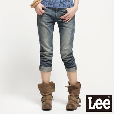【Super Sales 褲款下殺↘2.5折】LEE 401 Natasha 低腰標準窄腳9分牛仔褲 -女款(中漂藍)
