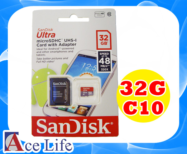 【九瑜科技】Sandisk 32G 32GB Class10 C10 micro SD SDHC TF UHS-1 48MB/s 記憶卡 手機 行車紀錄器 Kingston Toshiba
