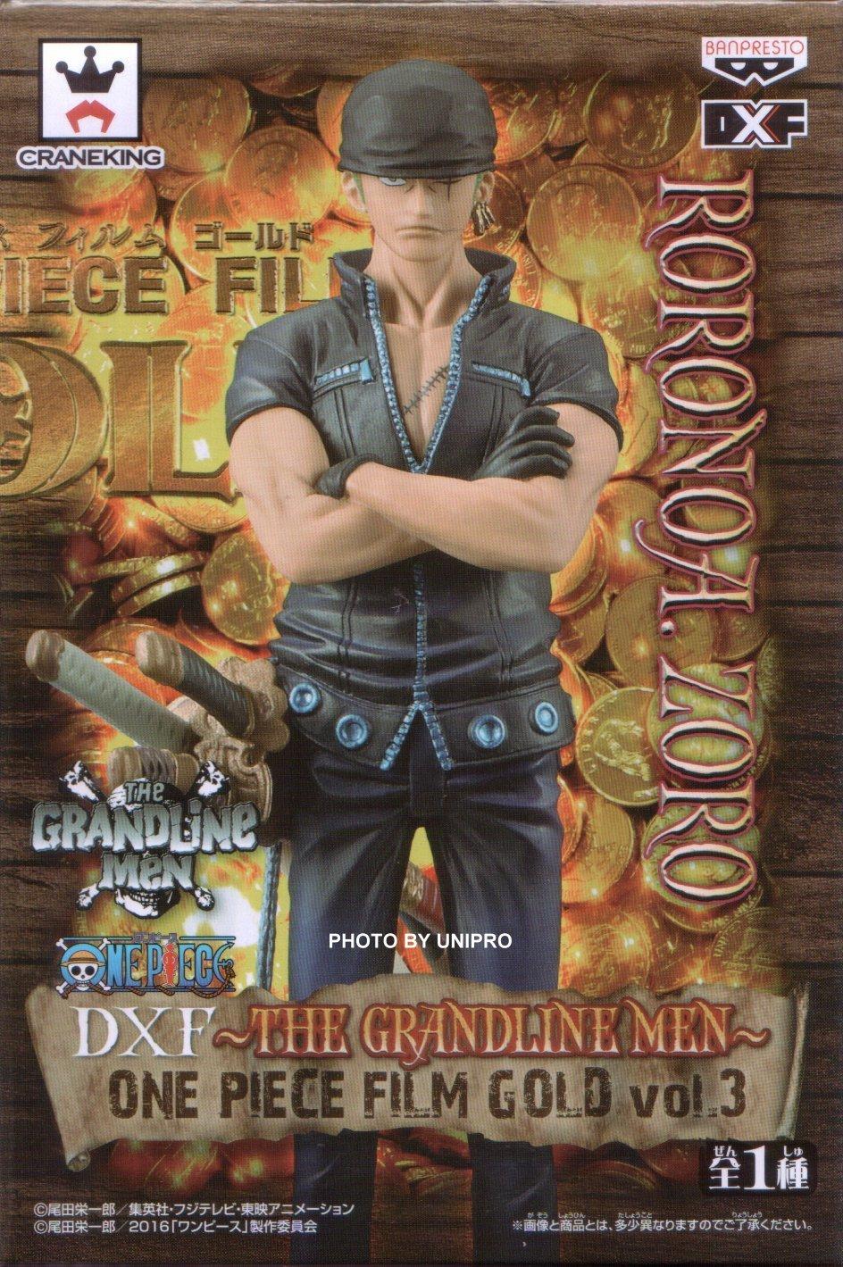 台灣代理版 電影版 DXF THE GRANDLINE MEN ONE PIECE FILM GOLD VOL.3 索隆 海賊王 航海王 公仔