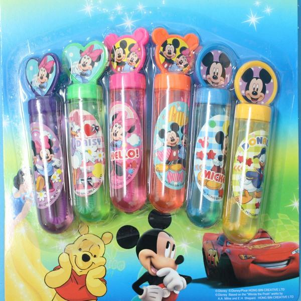 米奇泡泡水 6瓶入神奇吹泡泡水玩具/一卡6瓶入{促99}~迪士尼正版授權