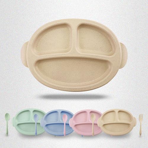 環保多功能餐具 兒童防滑餐具組 餐盤湯匙叉子三件套【WS0578】 BOBI  09/22