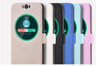 華碩 ZenFone Selfie ZD551KL 開窗蠶絲紋皮套 智能皮套【預購】
