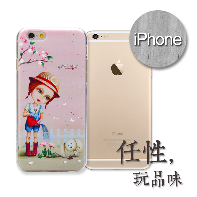 iPhone 浮雕手機殼.sofia's系列(櫻花)