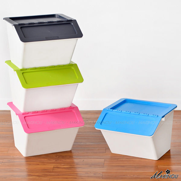 整理箱|日本MAKINOU-斜口可疊收納箱-022|收納箱台灣製塑膠