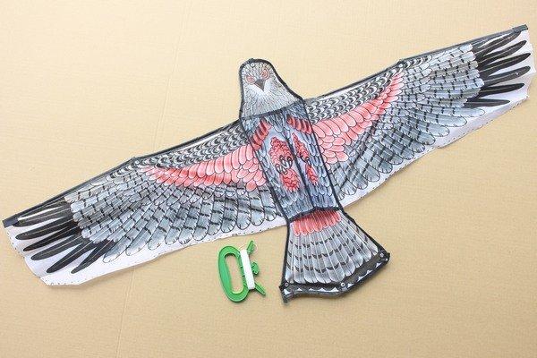 大老鷹風箏 老鷹造型風箏 立體老鷹風箏1.2米(大/立體布面.碳纖維架120cm x 54cm)/一支入{定100}~204593