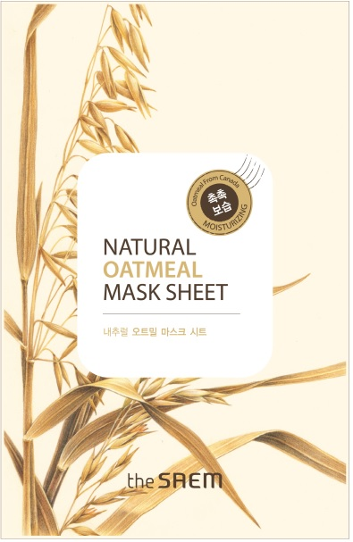 韓國the SAEM Natural 美顏燕麥面膜 21ml Natural Oatmeal Mask Sheet (New)【辰湘國際】