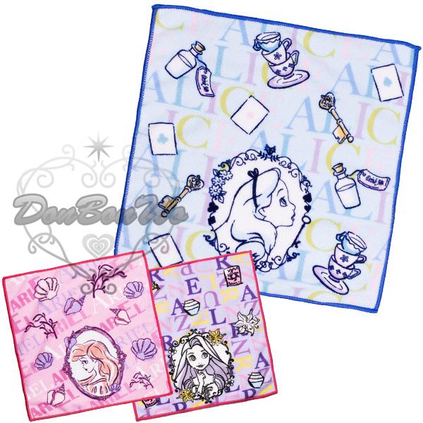 丸真迪士尼公主系列毛巾手帕小方巾吸水速乾樂佩愛麗絲愛麗兒051106海渡