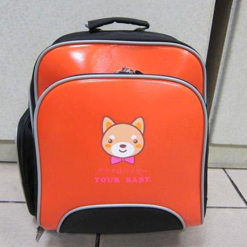 ~雪黛屋~YOUR BABY 護脊超輕型背包 後揹書包 加強護脊透氣功能 台灣製造正版授權#3360A橘
