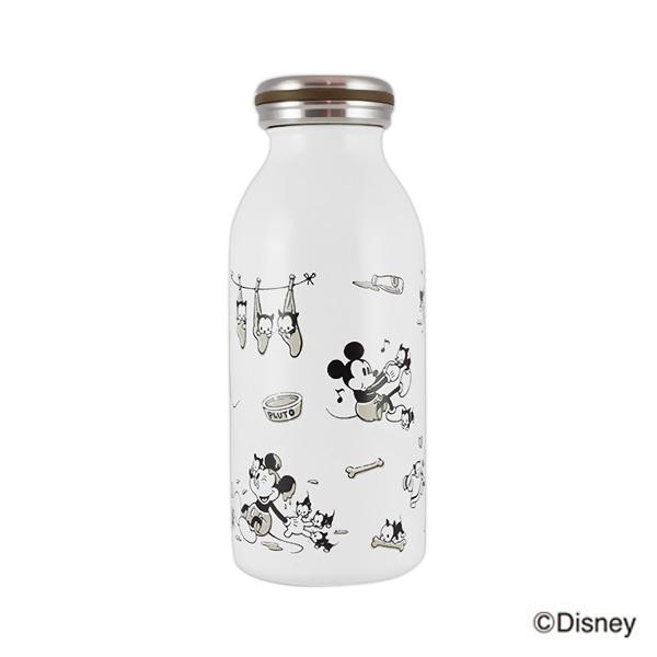 日本 mosh! 迪士尼 不鏽鋼牛奶瓶/保溫保冷瓶 350ml 米奇 *夏日微風*