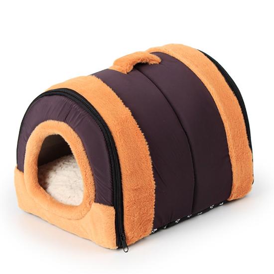 【小樂寵】棕黑色手提可拆卸床屋組S-L