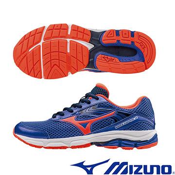 K1GC162755(寶藍X橘紅)WAVE INSPIRE12 Jr. 支撐型童鞋 A【美津濃MIZUNO】