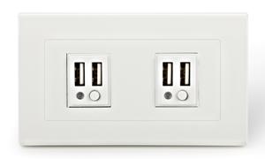USB充電插座系列 - 2個USB插座暨插座面板 ** 安全和方便兼顧 **