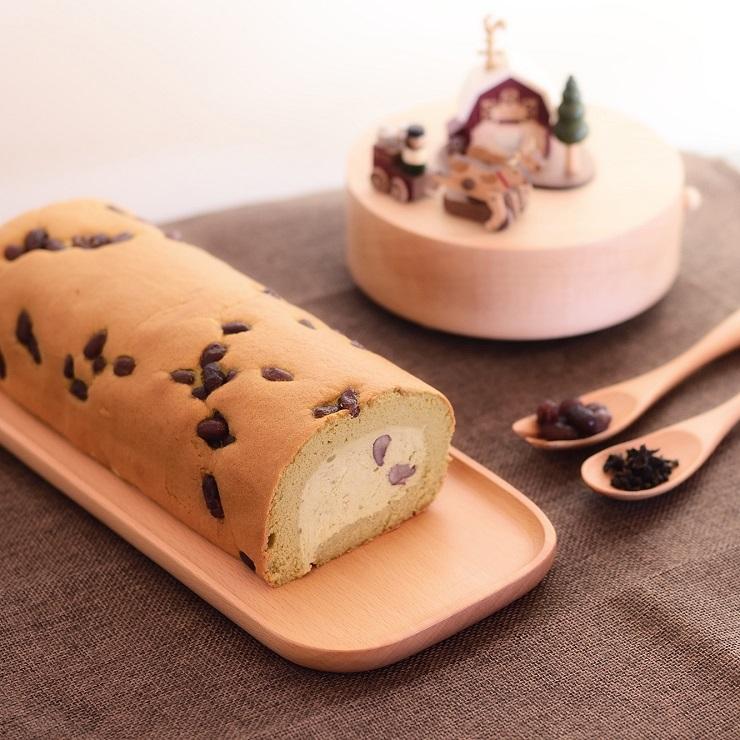 【烘焙饗宴】冰心生乳捲---茶香蜜豆 (約420g)