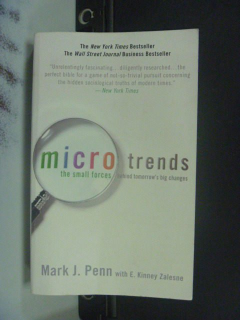 【書寶二手書T4/原文書_JEB】Microtrends The Small Forces…_Mark J. Penn