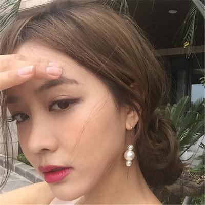 PS Mall 韓版日系甜美優雅復古簡約造型亞克力大小珍珠豎棍耳勾耳環耳釘【G2130】