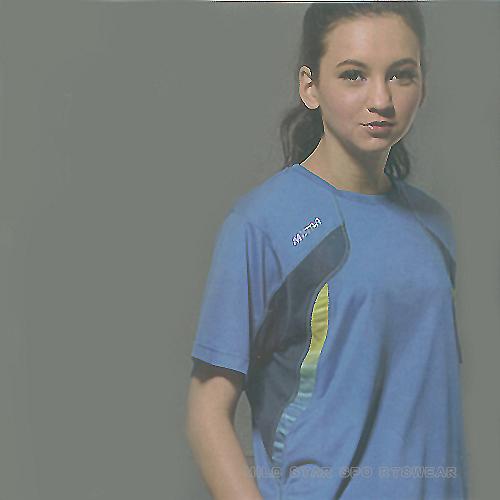 MILD STAR 男女吸濕排汗短T恤-寶藍#AS600405