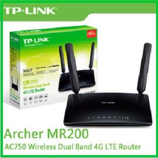 TP-LINK Archer MR200 AC750無線雙頻4G進階版LTE極速路由器 支援四大電信業者(中華、遠傳、台哥大、台灣之星)