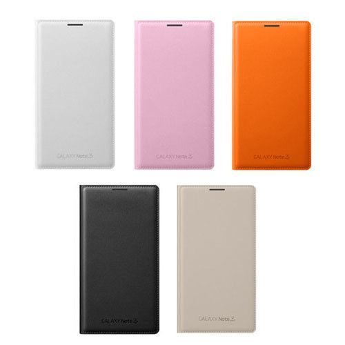 SAMSUNG GALAXY NOTE3 N9000原廠翻頁式皮套 側掀手機皮套【神腦盒裝】-白色