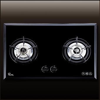 (喜特麗)雙口玻璃檯面爐(防空燒)-JT-2201A