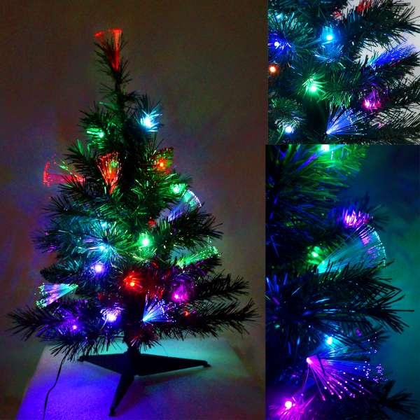 夢幻多變2尺/2呎(60cm)彩光LED光纖聖誕樹YS-OFT02001