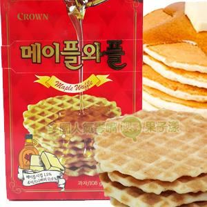 韓國CROWN 楓糖奶油鬆餅 餅乾 [KR221]