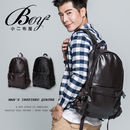 ☆BOY-2☆【NQA5074】韓式休閒皮革後背包