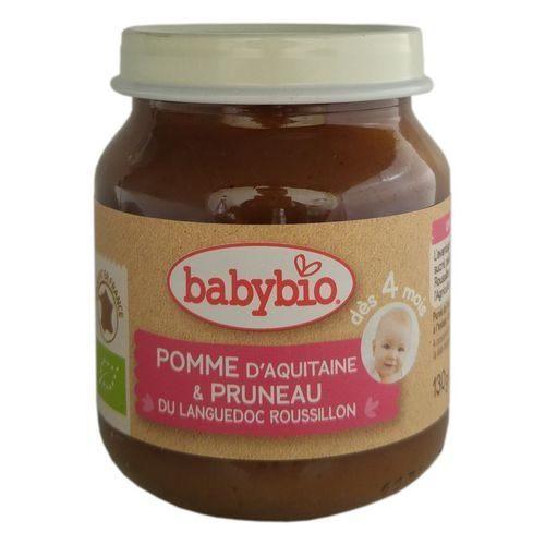 『121婦嬰用品館』法國 Babybio 有機蘋果黑棗鮮果泥 (130g/4M+)